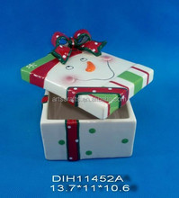 2015 Christmas decorative ceramic candy/cookie box