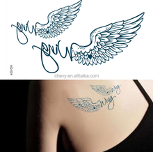 2015 new arrived angel wing temporary tattoo