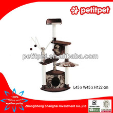 Best quality made in china Brown cat tree condo