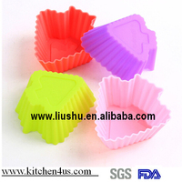 3cm silicon christmas tree shaped muffine cake mold