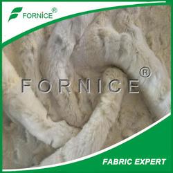 China manufacturer fake embossed BOA fur plush fabric for coats