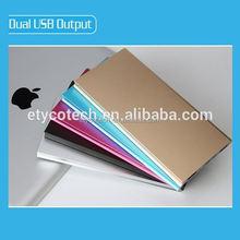 Excellent Aluminium super slim power bank for notebook