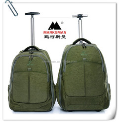 Best hiking durable trolley backpack with two rolling wheels