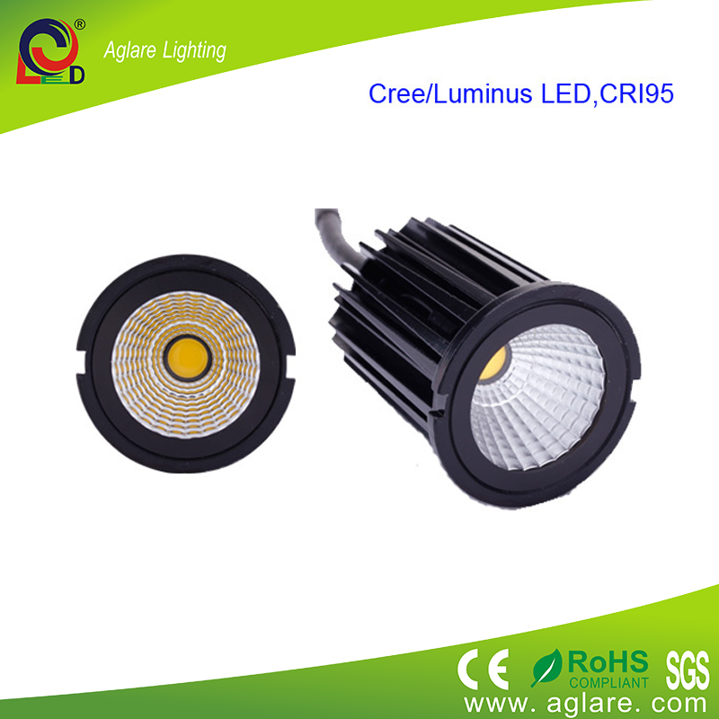 9w ip44 recessed cob dimmable led downlight led down light. Black Bedroom Furniture Sets. Home Design Ideas