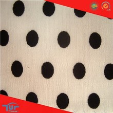 2015 Latest Dress Designs White And Black Polka Dot Fabric For Clothing