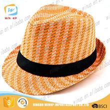 Cheap high quality bulk sale custom made fashion paper straw fedora hats wholesale