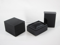 Personalized Black PU Acrylic Boxes for Single Watch