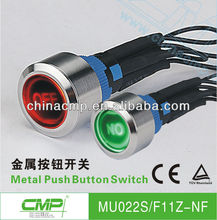CMP 22mm Metal/Plastic bi-color illuminated switch with ON-OFF Symbol Push Button
