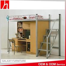 Modern Design With Desk And Wardrobe Children Kids Metal Bunk Bed