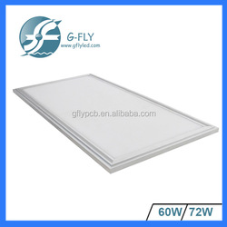 ultra thin led light panel 72w 600x1200 ceiling led light panel ip44 led panel light