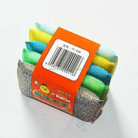 steel wire/plastic wire sponge scourer for kitchen cleaning