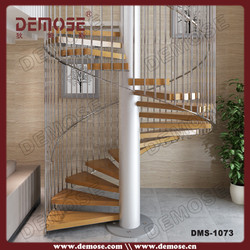 modern wooden spiral stairway design