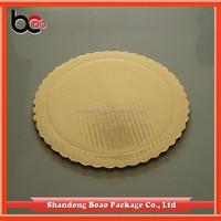 scalloped edge singlewall golden corrugated paper cake base