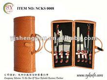 10 pcs orange handle knife set