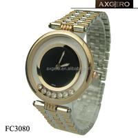 Fashion luxury design quartz lady best gift girls copper wrist watch