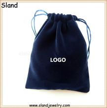 Beautiful Drawstring jewelry bag gift bag/ velvet jewelry Pouch Customs Printing LOGO