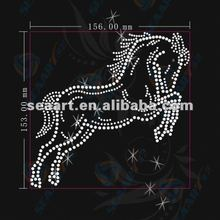 riding horse rhinestone heat transfer for cloth