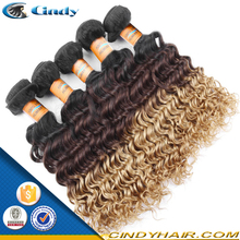 "New arrival 8-36"" grade 5A spring curl peruvian ombre braiding hair"