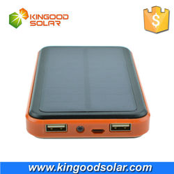 2015 new products wholesale low price solar powerbank 10000mAh portable solar charger for mobile phone