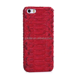 China Real Leather Phone Case Manufacturer for IPhone 5 Red Back Cover