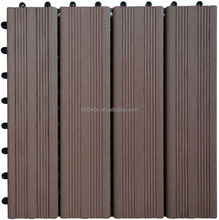 Easy Install Eco-friendly wood plastic composite Snapping Deck Tiles for outdoor garden