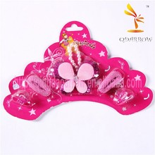 Butterfly Shaped Polyester Mini Elastic Hair Bands for Girls