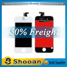 wholesale foxconn for iphone4 lcd display touch screen touch panel glass digitizer assembly,for iphone 4 lcd digital display
