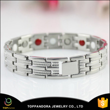 Wholesale China fashion stainless steel men's jewelry energy bracelet with healthy magnet germanium ,far, negative ion