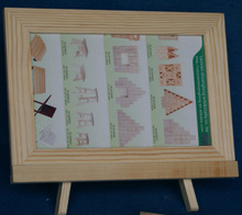 marco de madera para la pintura