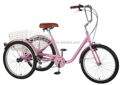 GW 7020 24in six speed cargo trike/steel frame tricycle/for old peop;e tricycle /shopping trike
