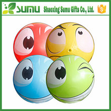 hot sell custom cheap clear pvc inflatable eye ball beach ball