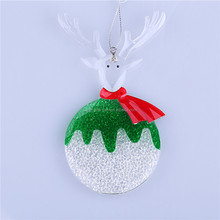 Christmas deer and snowball ornament 01402018 new style christmas decoration 2015 shining crystal