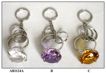 crystal craft key ring glass decoration
