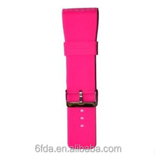 Pink color Silicone watch strap factory manufacturer