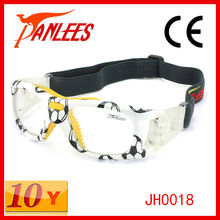 Panlees Water Printing Football Glasses Sports Goggles with flexible elastic band (Optical Lens Match)
