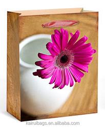 Flower paper bag gift shop china shop
