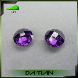 Faceted Purple Voilet Cubic Zirconia Christmas Ornament Gemstone