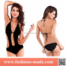 new models sexy one piece halter hot bikini
