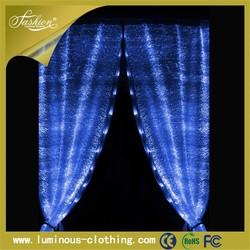 latest wholesale curtain designs 2015 fiber optic fabric curtain