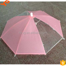free your hands innovative new plastic products/clear plastic umbrella