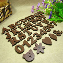 Wholesale high quality cheapest custom colorful cartoon wooden letter