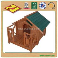 Asphalt roof wooden dog kennel with adjustable feet DXDH015