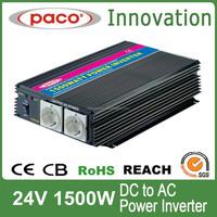 24V DC TO 220V AC Single Phase Power Converter 1500W 24V with CE
