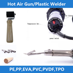 CANEX CX-NS1600A/B 3400W 1600W hot air welding gun /soldador pvc-vynil tile heater nozzle-pressure roller silicon