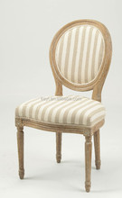 White chambray dining room chair wooden chair(CH-211-OAK)