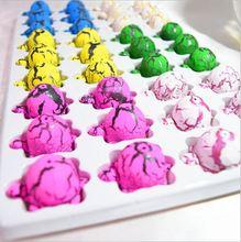 New 36pcs/lot Novel Water Hatching Inflation Tortoise Egg Watercolor Cracks Grow Egg Educational Toys Interesting Gift