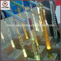 Indoor Prefab Acrylic Stair Railing Crystal /Glass Terrace Acrylic Railing Designs