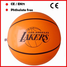 Lakers logo pvc inflatable basketball for promotion