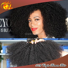 Natural raw afro kinky human hair extension 100% ethiopian Human virgin hair
