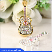Jewelry violin shaped usb key fancy usb flash drive full capacity custom usb